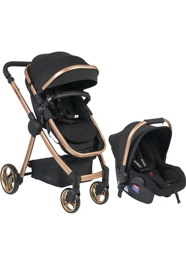 Tommy Baby Toranto Gold Vip Travel Sistem Bebek Arabası + Puset Siyah